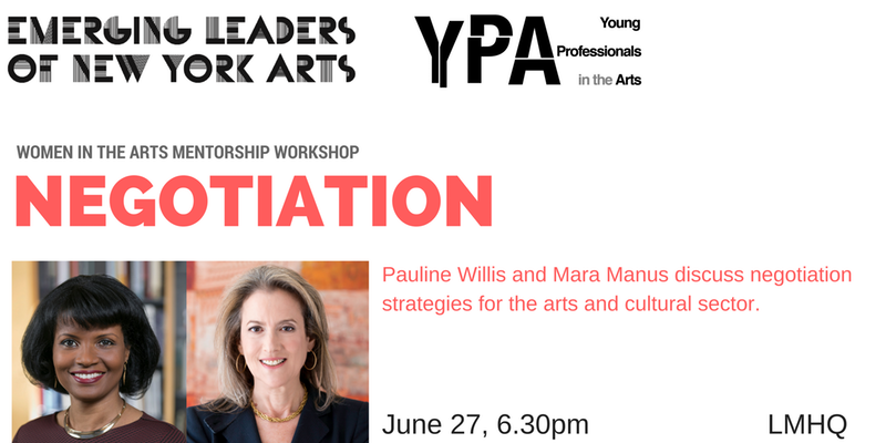 Women in the Arts Negotiation Workshop