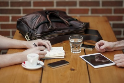 Networking coffee date
